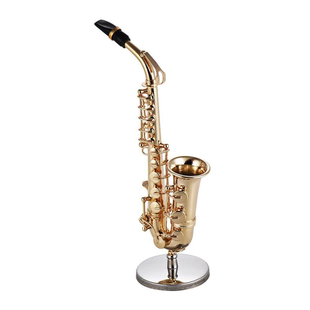 Offer Ưu Đãi Mini Brass Alto Saxophone Sax Model Exquisite Desktop Musical Instrument Decoration Ornaments Musical Gift With Delicate Box