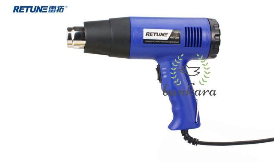 1800W RETUNE Hot Air Heat Gun Blower Shrink Gun Bankara Adjustable Hot Glue Gun