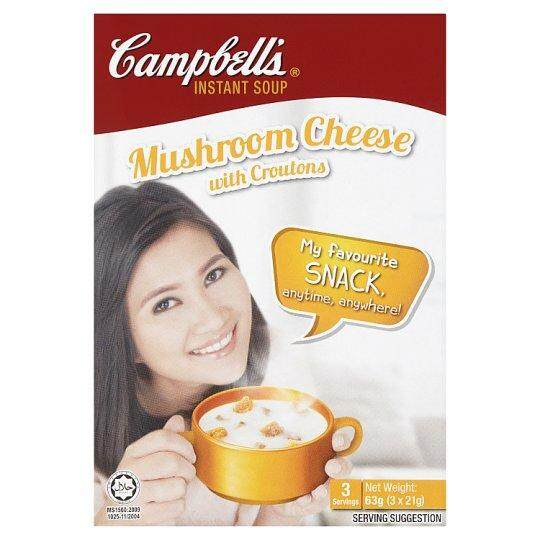 Campbell's Instant Soup Mushroom Cheese with Croutons 3 x 21g (63g)