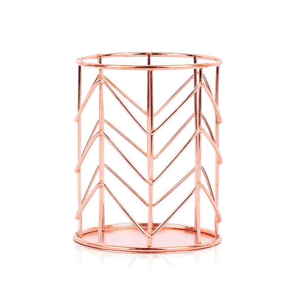 Goodgreat Rose Gold Wire Pencil Holder Round Iron Mesh Pen For Desk By Good&great.