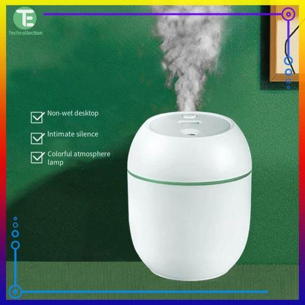 2W Mini Air Humidifier 250mL Night Light Super Quiet Fogger Mist Essential Oil Aromatherapy Singapore
