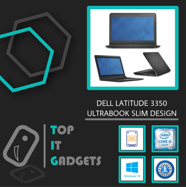 DELL LATITUDE 3350 BUSINESS SERIES - CORE I5 5TH GENERATION / 8GB DDR3L RAM / 128GB SSD STORAGE / WINDOWS 10 PRO [ 6 MONTHS WARRANTY] [ LAPTOP ] Malaysia