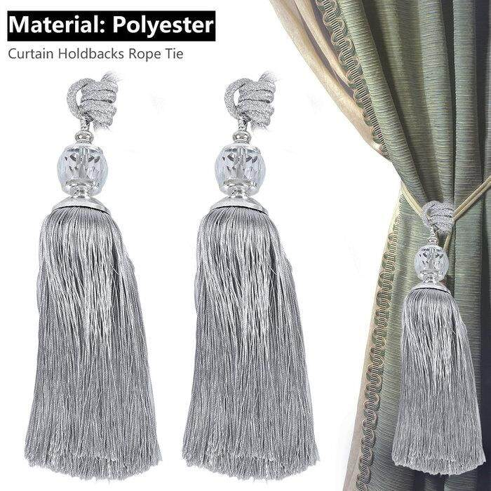 Curtain Straps Tie Rope Tassel Lace Crystal Hanging Ball
