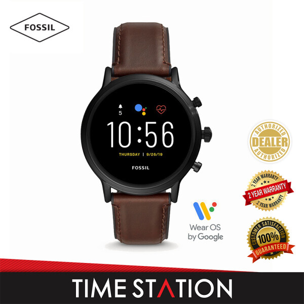 Fossil The Carlyle Gen 5 HR Dark Brown Leather Mens Smart Watch FTW4026 Malaysia
