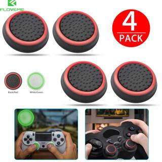 FLOVEME 4 Cái Bọc Tay Cầm Gậy Ngón Tay Cái Analog Silicon Cho Xbox 360 Một Playstation 4 Dành Cho PS4 PS3 Pro, Nắp Tay Cầm Chơi Game Mỏng Vỏ Nắp Cần Điều Khiển thumbnail