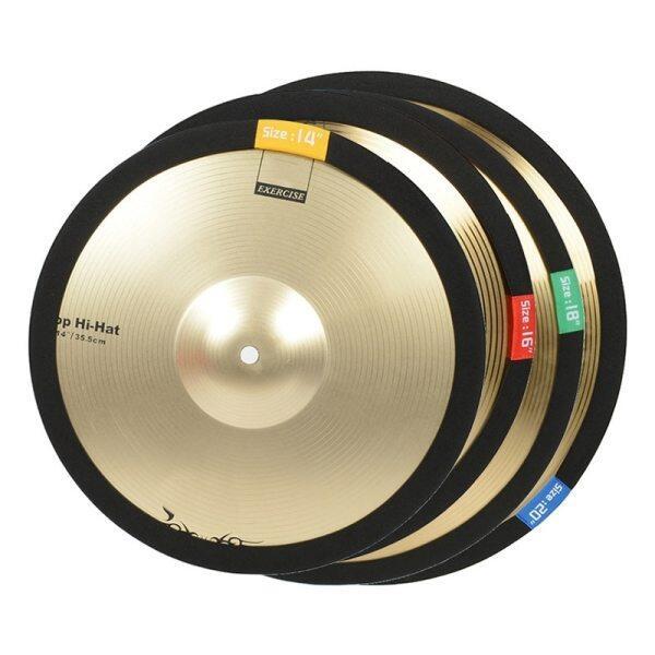14 16 18 20 Inch Cymbal Vòng Trống Trống Đặt Bộ Giảm Thanh Thực Hành Hi-Hat 4 Kích Thước Tùy Chọn