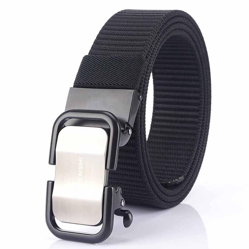 Thắt lưng nam chất vải nylon chắc chắn, có khóa kéo tự động Medyla cao cấp