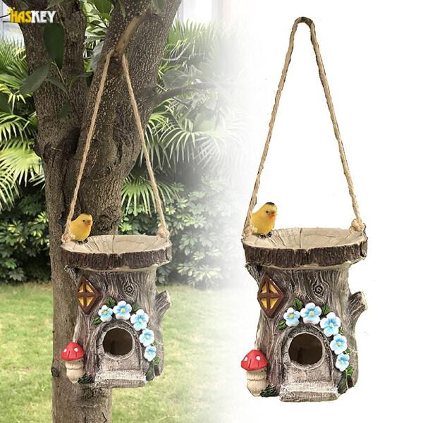 Hackey Nhà Chim Bằng Nhựa Resin Dụng Cụ Cho Chim Treo Vẽ Tay Đồ Trang Trí Sân Vườn Quà Tặng Sáng Tạo Cho Những Người Yêu Chim