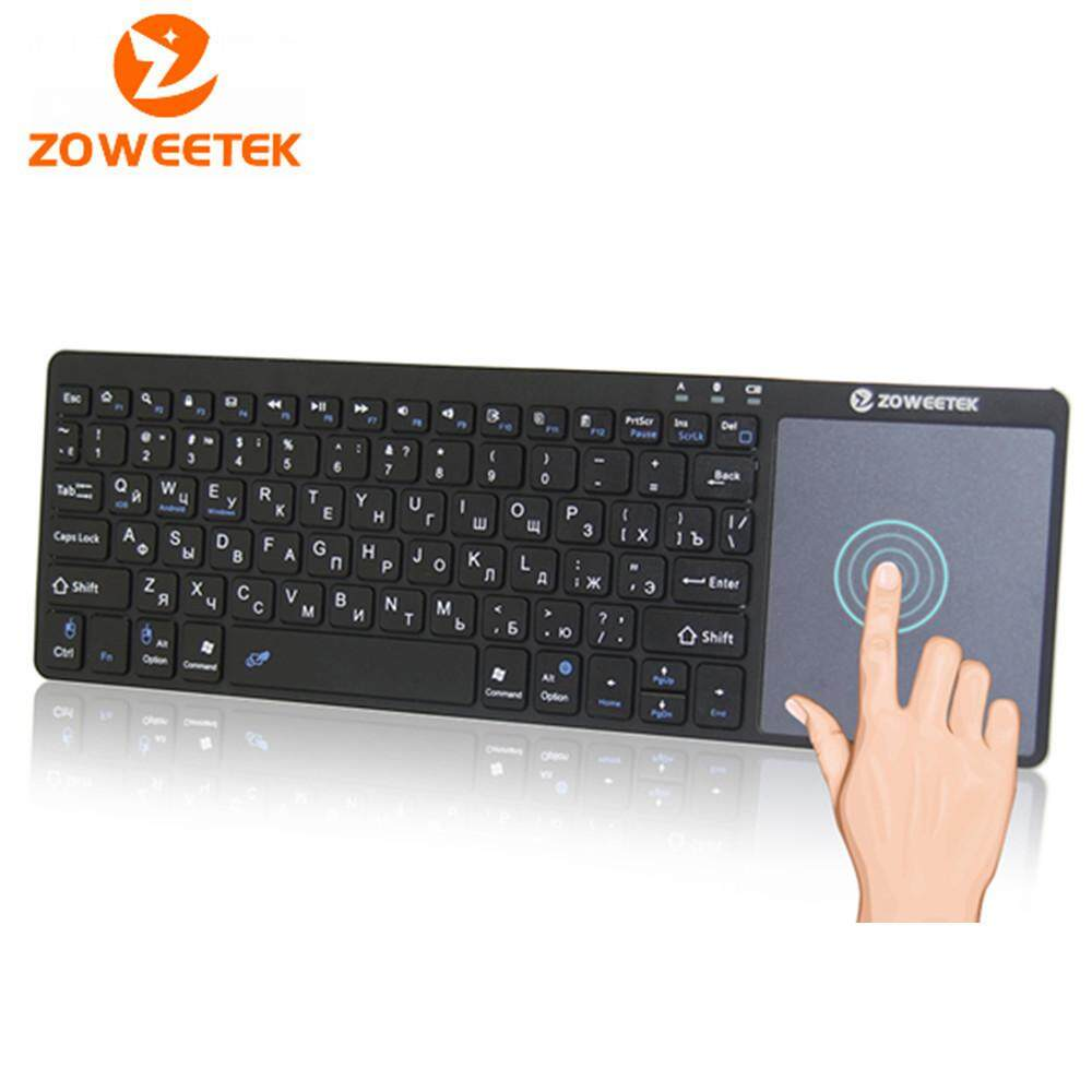 Genuine Zoweetek K12bt-1 Mini Wireless Bluetooth Keyboard Russian English Spanish Touchpad For Smart Tv Box Pc Android Phone Pad Malaysia