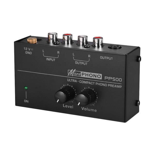 Ultra-compact Phono Preamp Preamplifier with Level & Volume Controls RCA Input & Output 1/4 Malaysia