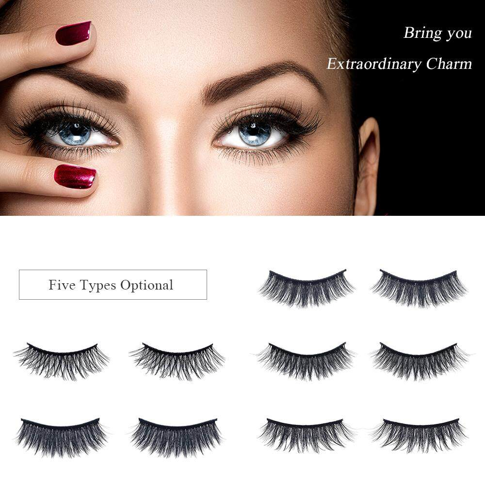 7 Pairs Natural False Eyelashes Fake Lashes Long Makeup Mink Lashes Eyelash Extension Mink Eyelashes Black 2 By Tomtop.