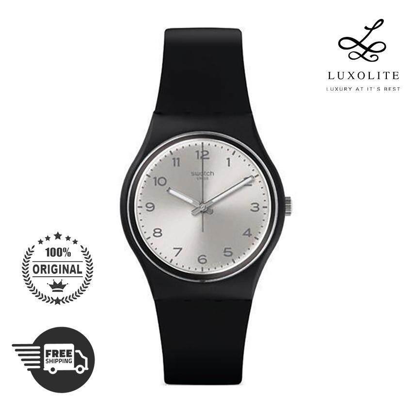 Swatch Quartz GB287 Black Plastic Unisex Men Women Fashion Ladies Watch 16a4b9c487