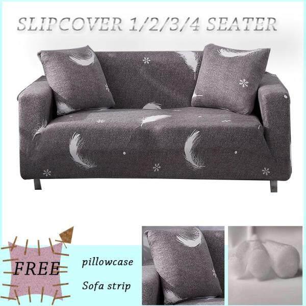 Sofa cover  Slipcover 1 2 3 4 seater L shape Sofa Cushion Home Decoration Full cover One Sofa Cover One Free Pillow Case