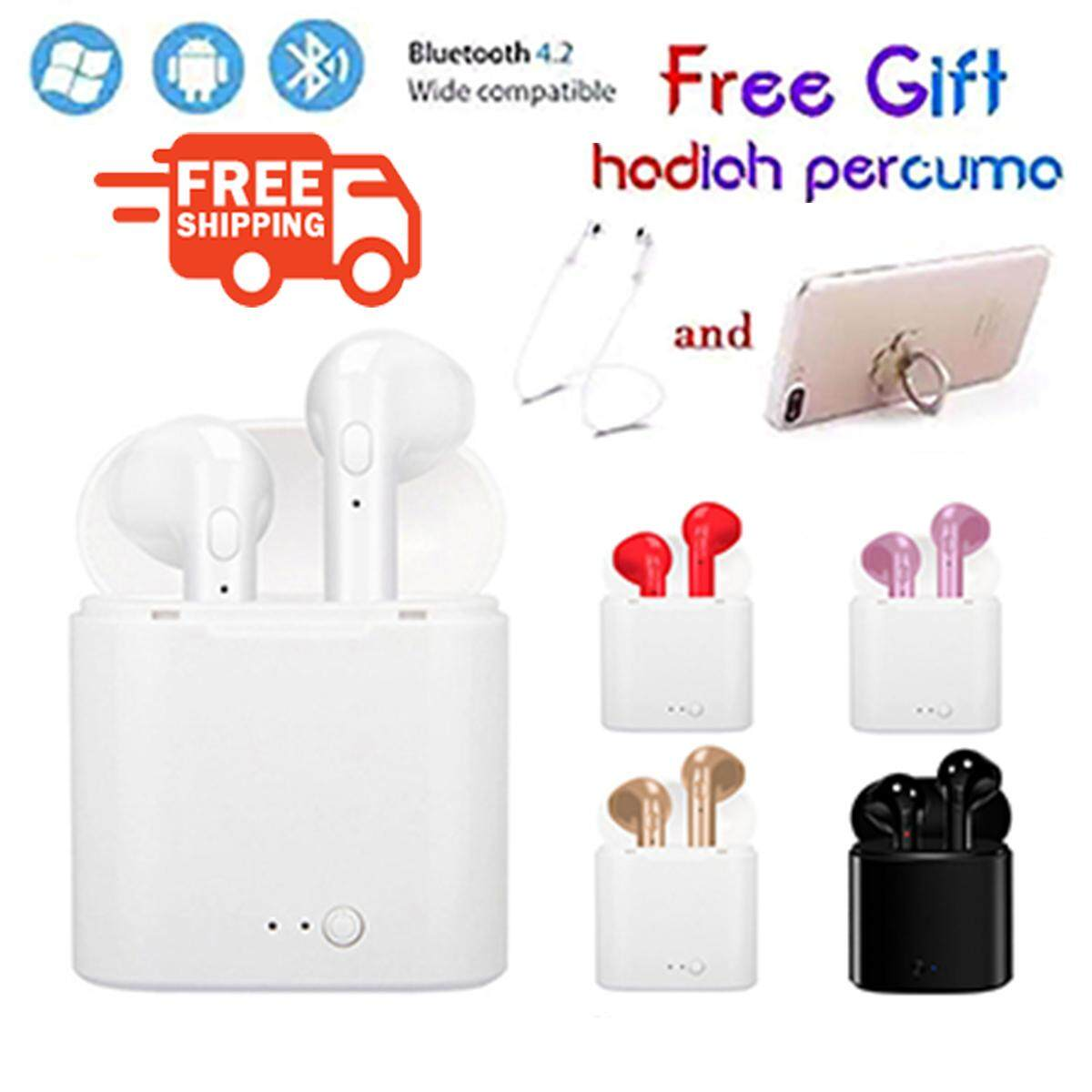 Bluetooth Headsets I7S TWS Bluetooth Earphones Bluetooth 5 0 Sports  headsets with Charging Case Stereo in-Ear Built-in Mic Headset Premium  Sound with