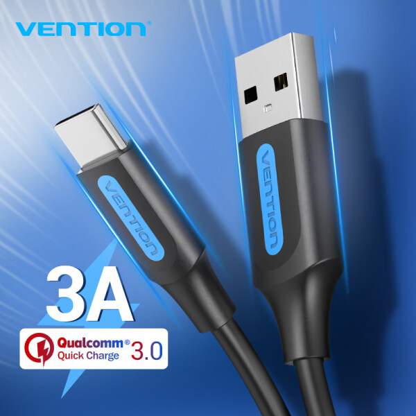 Vention cáp sạc Type C 3A Fast USB Charging Type-C Charger Data Cable for Samsung S10 S9 Redmi note 8 pro USB-C Cabo Wire dây sạc điện thoại Type C