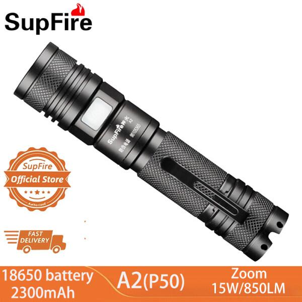Bảng giá Đèn Pin Mini Cầm Tay Supfire A2, Chụp Độ Sáng Cao, Đèn Pin LED 15W(P50), Tầm Xa Ngoài Trời
