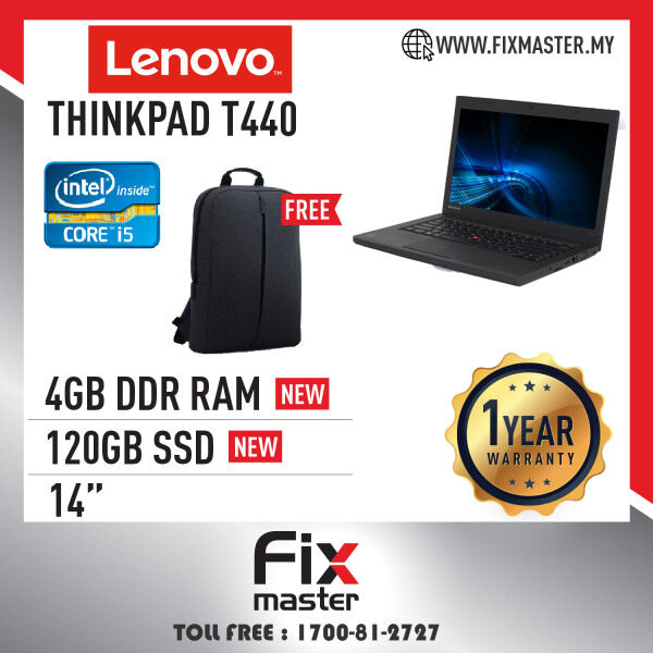 Lenovo Thinkpad T440 - 14 / Intel i5-4th Laptop (Refurbished) Malaysia