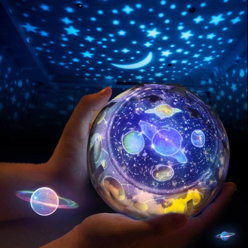 Đèn ngủ Hành Tinh Máy Chiếu Thần Kỳ Trái Đất Hoàn Vũ Khí Quyển Chòm Sao Đèn LED Nhiều Màu...