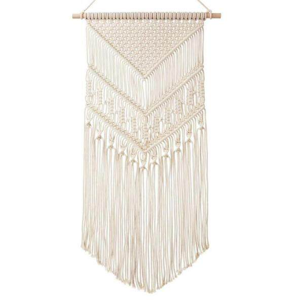 Macrame Wall Hanging Hand-woven Cotton Hanging Tapestry Bohemian Northern European Style Wall Decoration for Bedroom Living Room