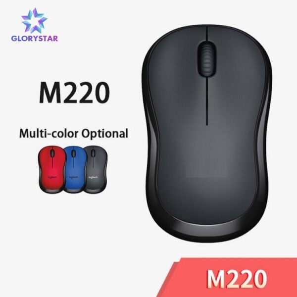 M220 Wireless Mouse Silent Mouse with 2.4GHz High-Quality Optical Ergonomic PC Gaming Mouse for Mac OS/Window 10/8/7