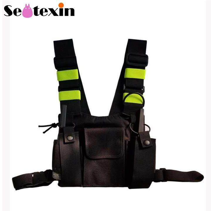 Universal Radio Wireless Caller Harness Bags for Walkie Talkie Chest Pocket  Pack Backpack Holster Two Way Radios Carry Case Accessory Holder for