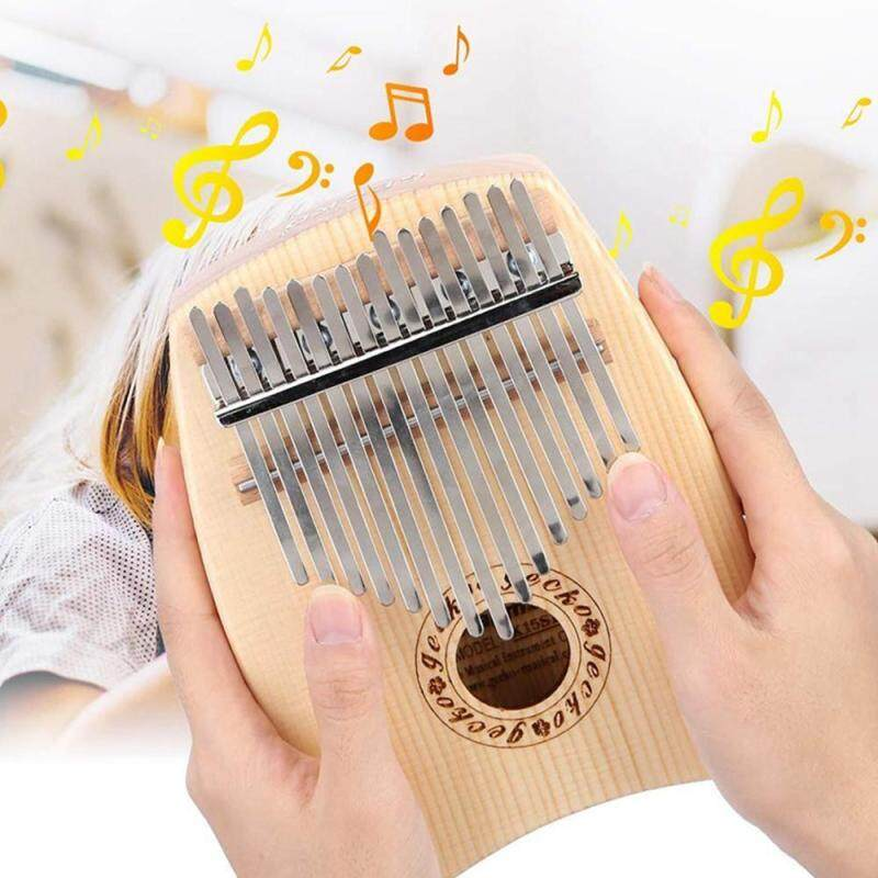 LightSmile Kalimba 15 keys Thumb Piano with Study Instruction and Tune Hammer, Premium Hand Piano Spruce Body Perfect Gift for Beginners Malaysia