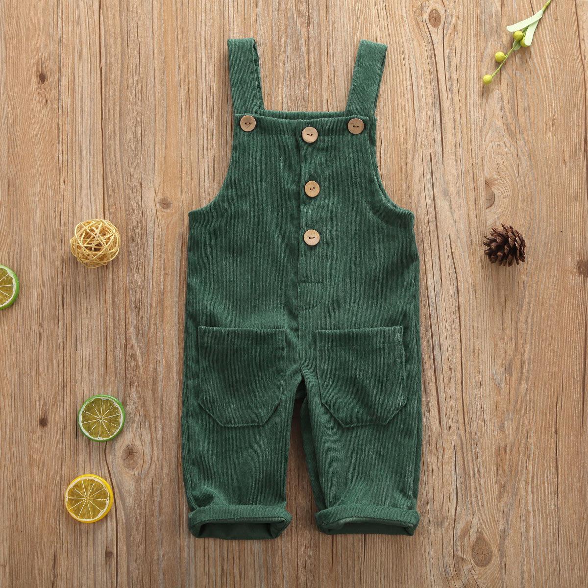 M & Bเด็กชายเด็กผู้หญิงsolidโดยรวมกางเกงขายาวสายเอี๊ยมcasual Corduroyเอี๊ยมทารกกางเกงoutwearสำหรับ 0-5 ปีเด็กวัยหัดเดินเด็ก.