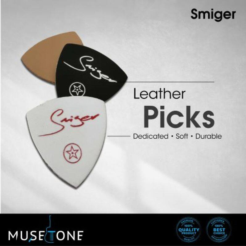 Smiger Leather Picks 3 in 1 Packs for soft touch for acoustic guitar / Ukulele Malaysia