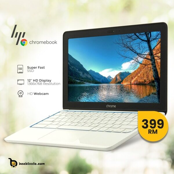 HP Chromebook 11, 12  inches Chromebook - Intel Celeron N3050 Dual-core (2 Core) 1.60 GHz Windows chrome OS Malaysia