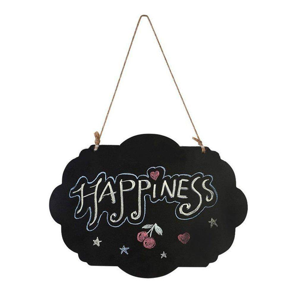 Hot Sales Hanging Wooden Blackboard Double Sided Chalkboard Wordpad Message Black Board By Befubulus.