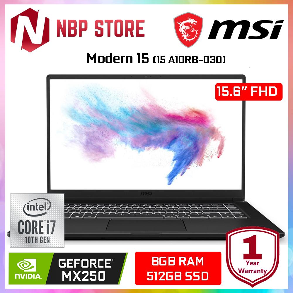 MSI Modern 15 A10RB-030 15.6  FHD IPS Laptop ( i7-10510U, 8GB, 512GB, MX250 2GB, W10 ) Malaysia
