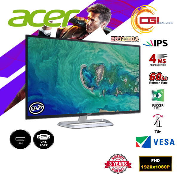 Acer 31.5 EB321HQA FHD 60Hz 4ms IPS Monitor Malaysia