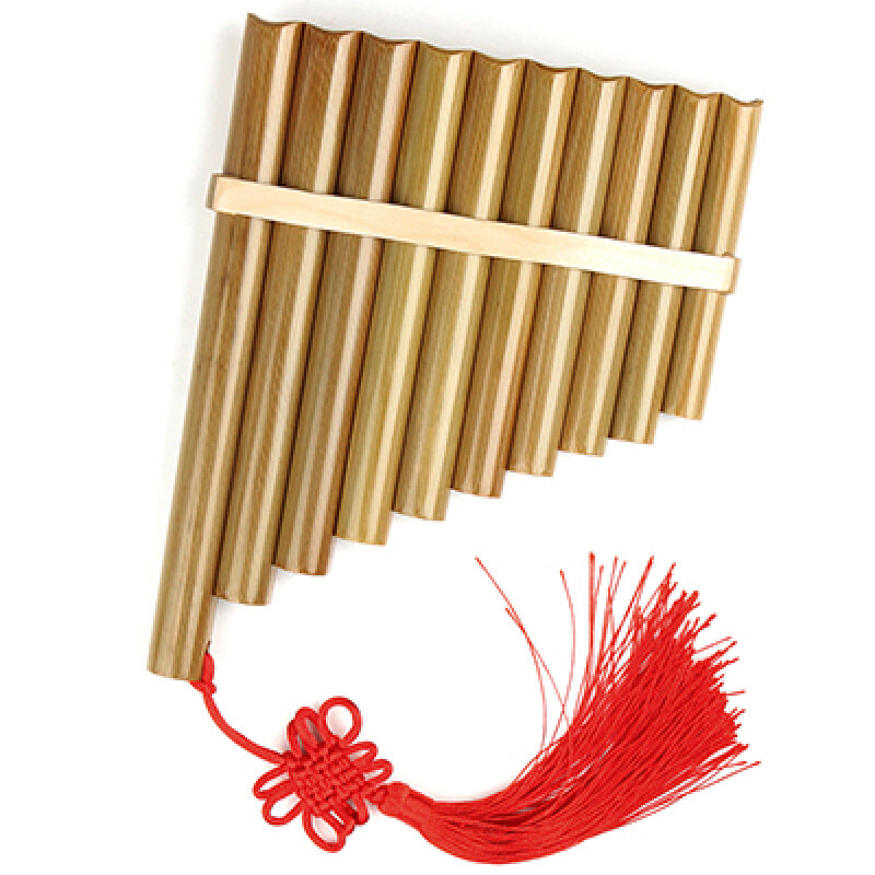 Chinese Traditional Musical Instrument 10 Pipes Pan Flute C Key High Quality Pan Pipes Woodwind Instrument Bamboo Pan Flute Malaysia