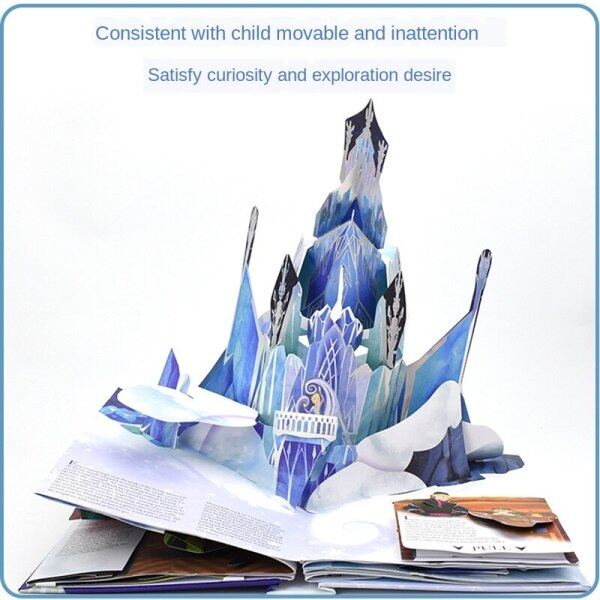 Frozen Pop-up Book English Original Picture Book Frozen A Pop Up Adventure English 3d Pop-up Book Theater Flip Book Paper Sculpture Art Story Book Classic Collectors Edition Childrens Day Gift Malaysia