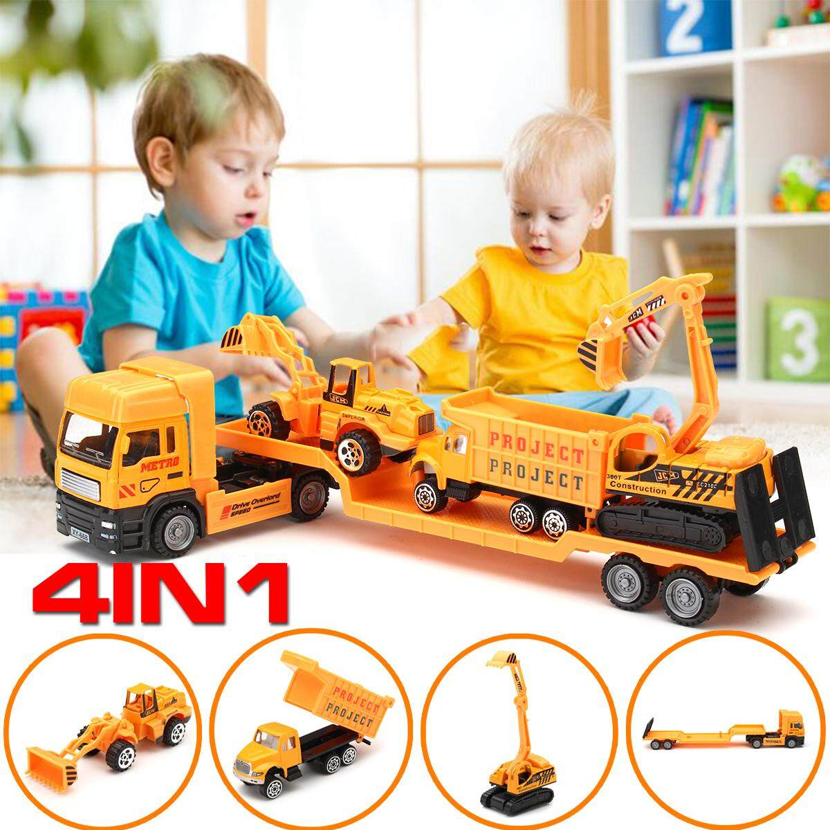 Kids Toy Recovery Vehicle Tow Truck Lorry Diecast Construction By Glimmer.