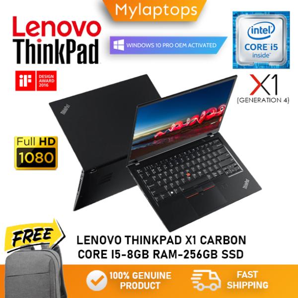 LENOVO THINKPAD X1 CARBON (GEN 4) [CORE I5-6300U / 8GB RAM / 256GB SSD] ULTRABOOK / FULL HD IPS / WINDOWS 10 PRO Malaysia
