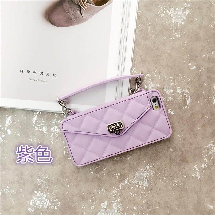 Fashion Crossbody Cell Phone Wallet Case Cover For iPhone XS MAX XR X 8 7 6 6s Plus Case Card Slot Handbag Purse With Long Chain