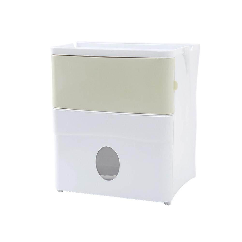 ห้องน้ำกระดาษทิชชูที่เก็บฟิวส์บ็อกซ์สองชั้นกันน้ำที่แขวนทิชชู่แบบติดผนัง By Stylish Life.