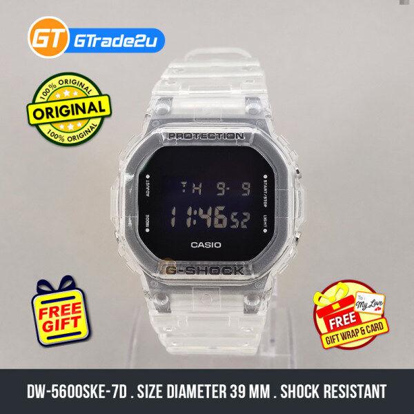 Casio G-Shock Men DW-5600SKE-7D DW5600SKE-7D DW-5600SKE-7 Digital Petak Jelly SKE Skeleton Watch Clear Resin Band G Shock . watch for man . jam tangan lelaki . casio watch for men . casio watch . men watch . watch for men [READY STOCK] Malaysia