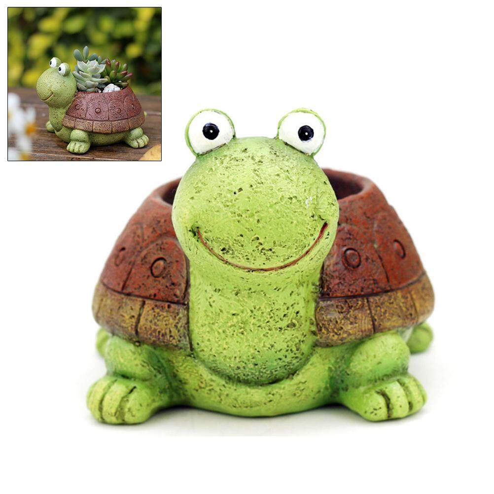 Tavey Cute Turtle Shaped Succulents Flower Pot Mini Plant Pots Home Office Ornament