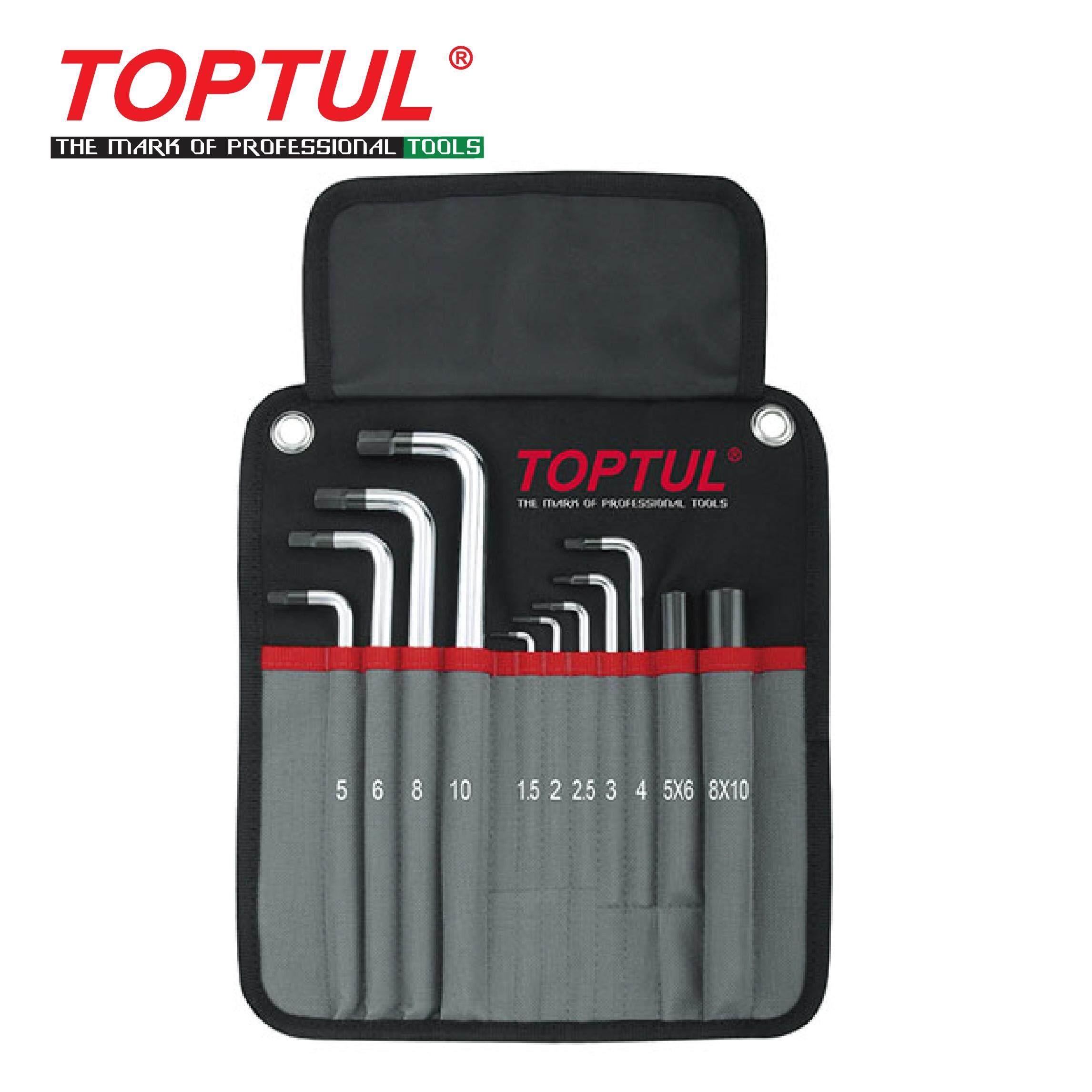 [Special Promotion] TOPTUL 11PCS Heavy Duty Extra Long Type Ball Point Hex Key Wrench Set (GPAQ1101)