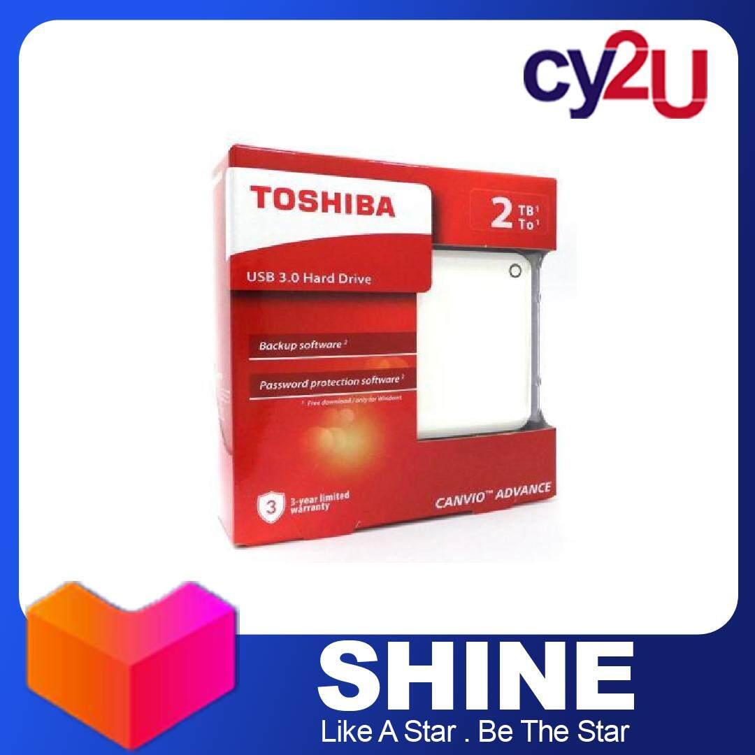 Toshiba 2TB Canvio Advance USB 3.0 Portable Hard Disk Drive HDD White