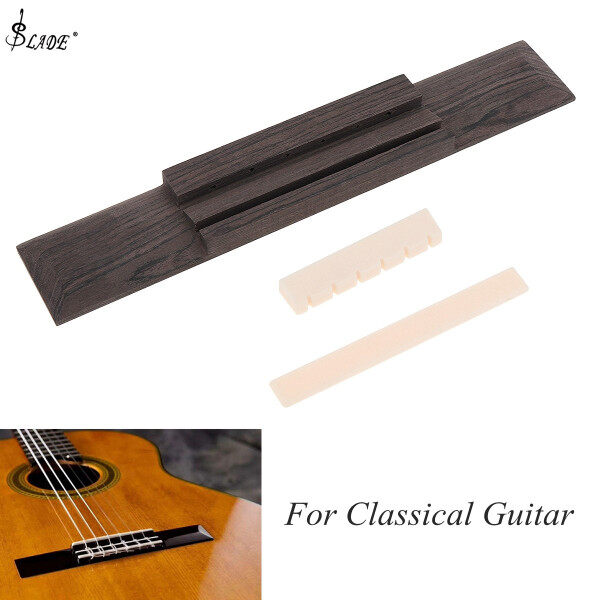 SLADE 1 Set Rosewood Classical Guitar Bridge Pad + Saddle / Nut Guitar Parts for 40 41 Inch Guitar Malaysia