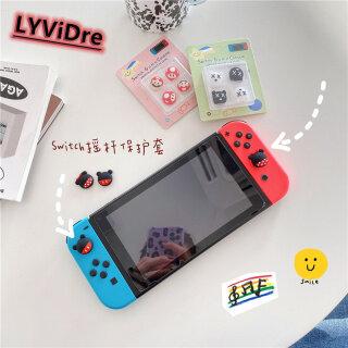 LYViDre 4 Miếng Bọc Cần Điều Khiển Hoạt Hình Dễ Thương, Ngón Tay Cái Thanh Nắp Chụp Tay Cầm Cho Nintendo Switch Nintendo Switch NS Lite Tay Cầm Điều Khiển Joy-Con Mềm Silicone Trường Hợp Rocker Hat thumbnail