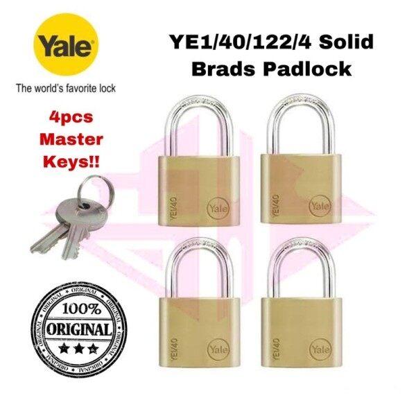 Yale Essential Series YE1 YE1/40/122/4 Solid Brass Padlock YE1-40-122-4 40mm pad lock mangga pintu