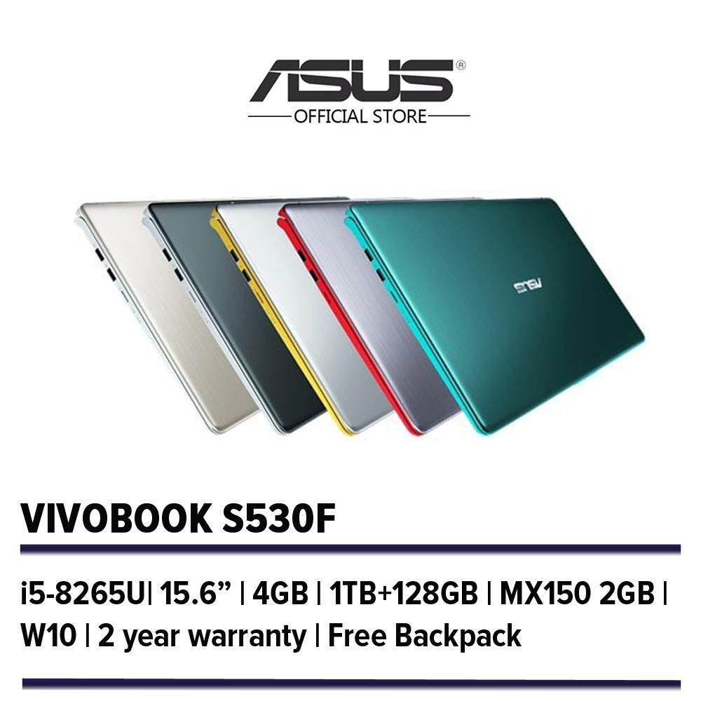 Asus Vivobook S S530F Notebook/Laptop/15.6/i5-8265U/4G/1TB+128G/MX150 2G/W10/ - Free Backpack Malaysia