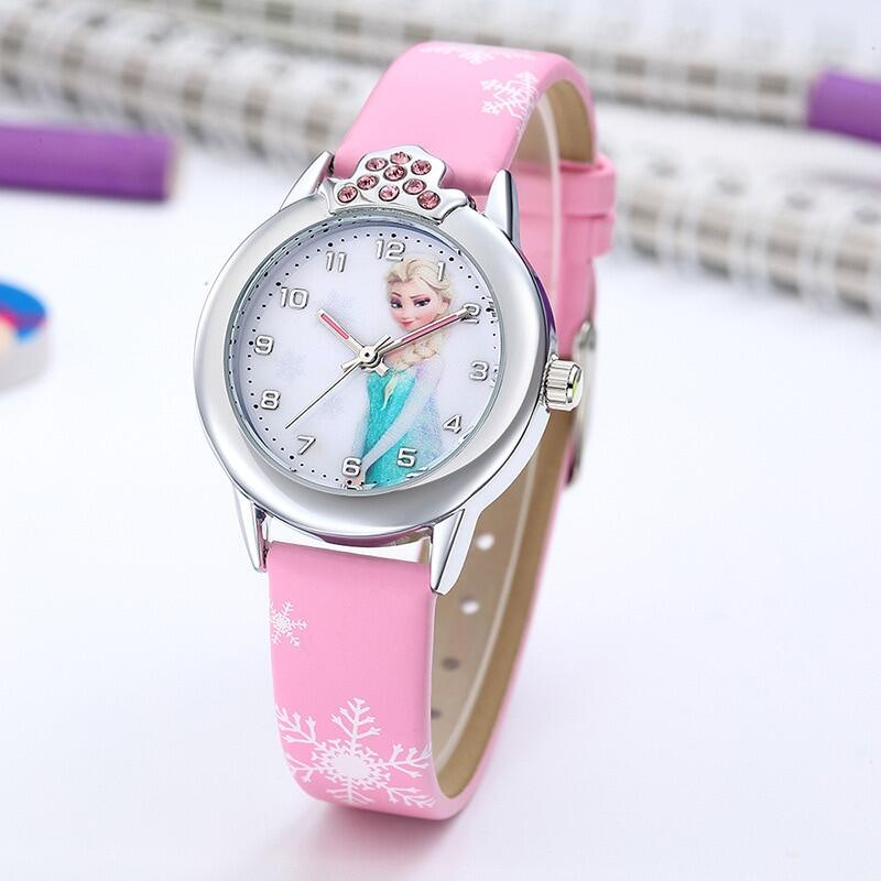 Watch Girls Princess Kids Watches Leather Strap Cute Childrens Cartoon Wristwatches Gifts For Kids Girl Malaysia