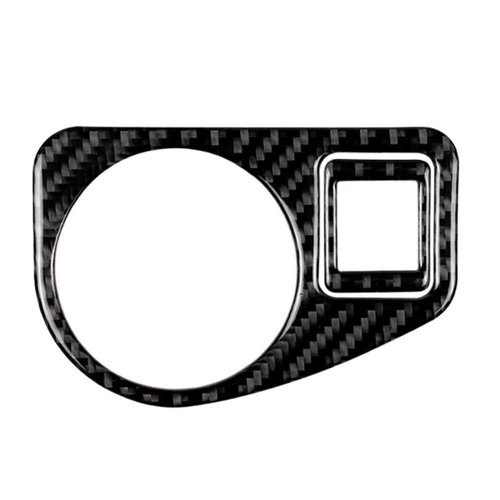 Lovecar101 untuk Golf 7 Serat Karbon 2013-2017 Sakelar Lampu Kepala Lapisan Penghias Mobil Styling