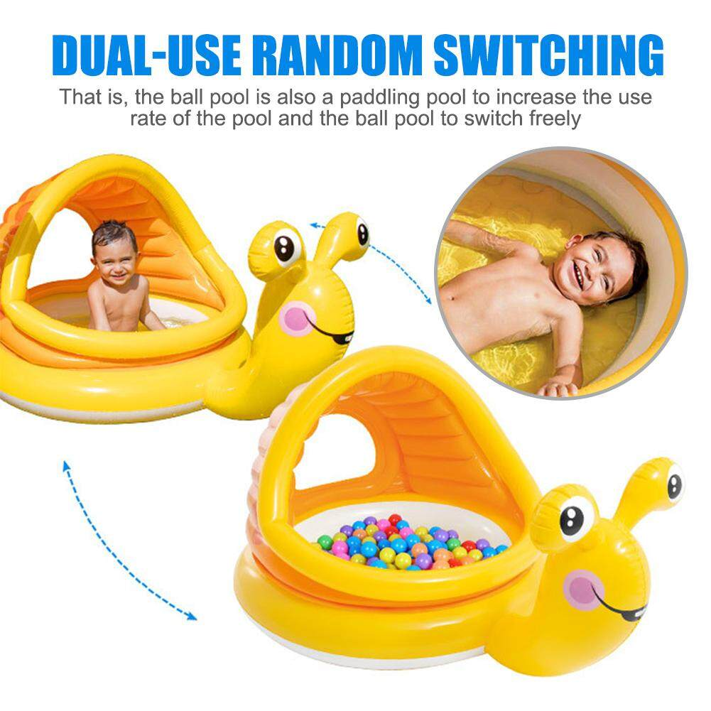 Snail Shaped Baby Swimming Pool Float Cartoon Inflatable Snail Swimming Ring for Kids Toddles