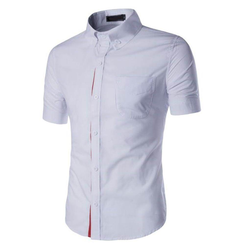 Men/'s Stand Collar Shirts Slim Fit Button Down Dress Formal Casual T-shirt Tops